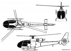 sa 342 gazelle model airplane plan