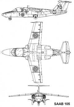 saab105 3v model airplane plan