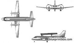 saab 340 model airplane plan