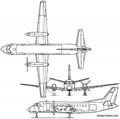 saab 340 1983 sweden model airplane plan