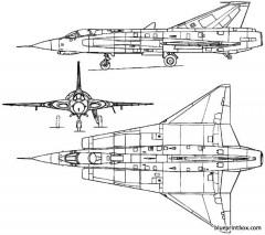 saab 35 draken 1955 sweden model airplane plan