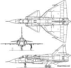 saab 37 viggen 1967 sweden model airplane plan