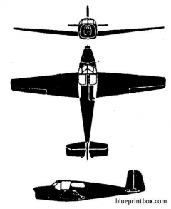 saab 91 safir model airplane plan