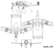 saab j21r 3v model airplane plan