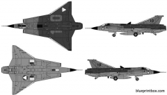 saab j35o draken model airplane plan
