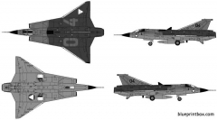 saab j35o draken 2 model airplane plan