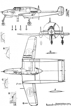 saab j 21 model airplane plan