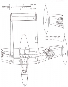 saab j 21r model airplane plan
