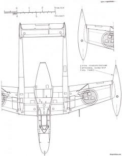 saab j 21r model airplane plan