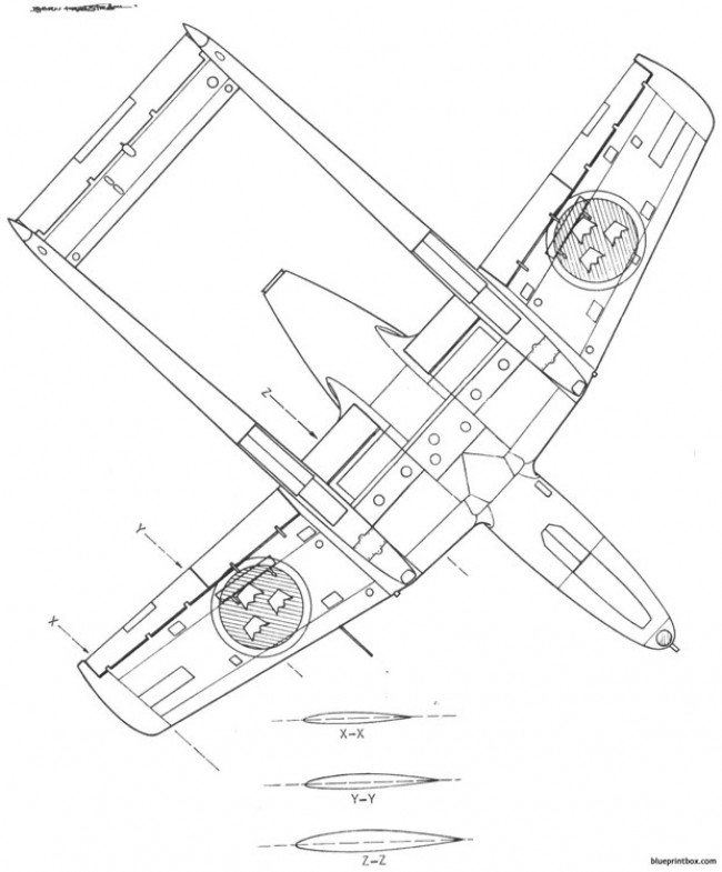 saab j 21r 2 model airplane plan
