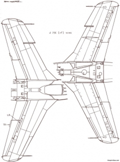 saab j 29 tunnan 3 model airplane plan