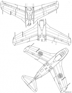 saab j 29 tunnan 3 4 model airplane plan