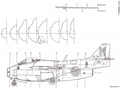 saab j 29 tunnan 3 5 model airplane plan