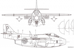 saab j 29 tunnan 3 6 model airplane plan