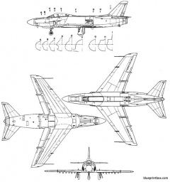saab j 32 lansen model airplane plan