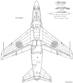 saab j 32 lansen 2 model airplane plan