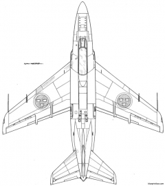 saab j 32 lansen 4 model airplane plan