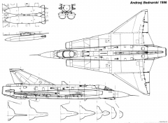 saab j 35 draken 2 model airplane plan