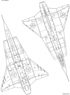 saab j 35 draken 7 model airplane plan