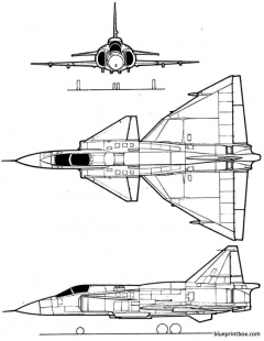 saab j 37 viggen model airplane plan