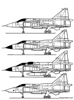 saab j 37 viggen 2 model airplane plan
