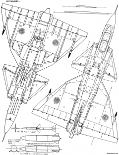 saab ja 37 viggen model airplane plan