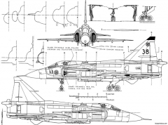 saab ja 37 viggen 2 model airplane plan