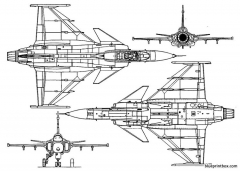 saab jas 39 gripen model airplane plan