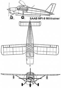 saab mfi9 1 3v model airplane plan