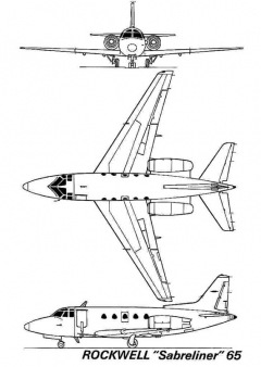 sabreliner 3v model airplane plan