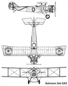 salmson2a 3v model airplane plan