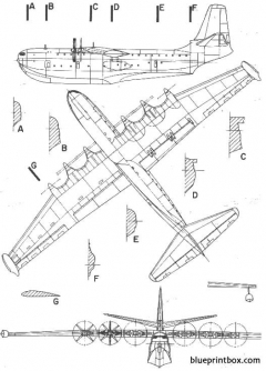 saro princess model airplane plan