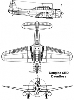sbd 1 3v model airplane plan