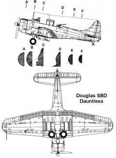 sbd 2 3v model airplane plan