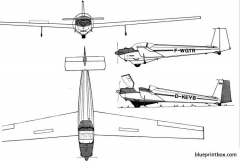 scheibe sf 25 falke model airplane plan