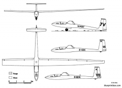 schleicher asw 12 model airplane plan