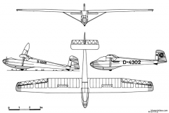 schleicher ka 4rhonlerche model airplane plan