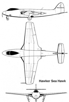 sea hawk 3v model airplane plan