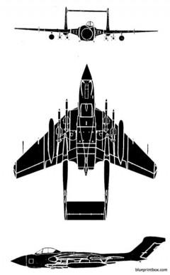 sea vixen faw 1 model airplane plan