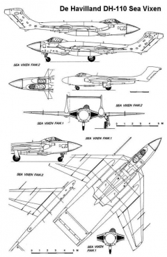 seavixen 3v model airplane plan