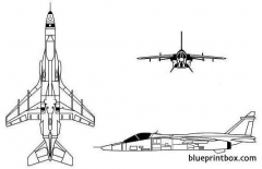 sepecat jaguar model airplane plan