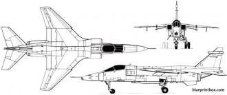 sepecat jaguar 1969 model airplane plan
