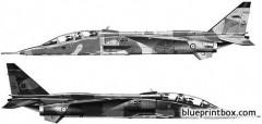 sepecat jaguar e model airplane plan
