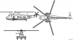 sh 3 sea king model airplane plan