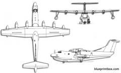 shin meiwa flying boat model airplane plan