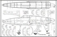 shinden fuse model airplane plan