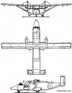 short 330  c 23 sherpa 1974 england model airplane plan