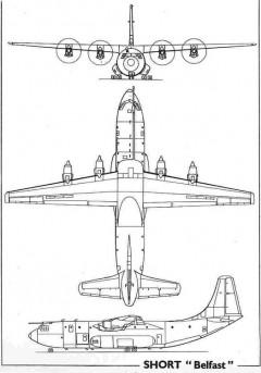 short sc5belfast 3v model airplane plan