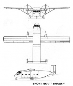 short skyvan 3v model airplane plan