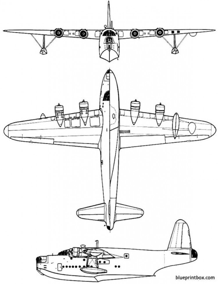 short sunderland mk iii model airplane plan